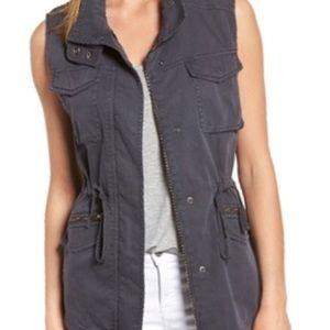 Caslon Grey Utility Vest Size Large EUC